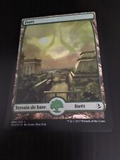 MTG MAGIC AMONKHET FULL ART FOREST (FRENCH FORET) NM FOIL