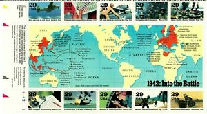 Scott 2697 World War II: Into the Battle pane of 10 MNH Free shipping!!