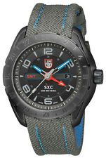 Luminox Men's Watch 5121.GN GMT SXC Space Black Dial Ion Plated Stainless Steel