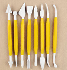 Double-head Plastic Polymer Clay Pottery Modeling Tool Set 8 PC s