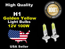 USA Seller Xenon Headlight Light Bulb -12v 100w Golden Yellow H1 Low Beam
