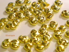 40 CRIMP BEAD COVERS  3mm GOLD PLATED