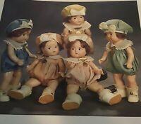"""Rare/Vintage DIONNE QUINTS Dolls/1936 Madame Alexander Quintuplets 7""""Composition"""