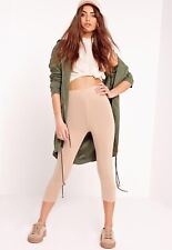 *BNWT* MISSGUIDED Jersery Cropped Leggings Nude UK SIZE 6