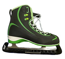 Riedell Ice Skates Soar Figure Model 625 Gray/Green Adult 12 Med New In Box