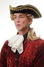 Parrucca Uomo Carnevale Barocco Renaissance ricci Biondo Treccia Lord Principe
