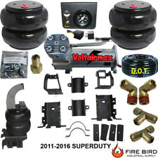 Air Helper Spring Kit Ford F250 F350 SD 2011-2016 Compressor & EPush Button xzx