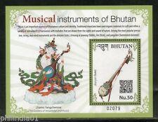 Bhutan 2017 Musical Instruments Lute Flute Music Art M/s MNH# 5435