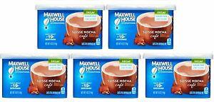5 Maxwell House SUISSE MOCHA SUGAR FREE DECAF Cafe Coffee Creamer Drink Mix
