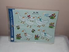 Vtg 1986 Decoral Handpainted Waterslide Decals Fancy Geese  A-70 New Old Stock
