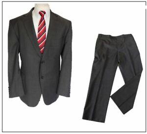 "M&S Tailoring Performance mens 2 piece suit Ch46""S W36"" L29"" Neutral Grey"