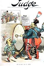 Grover Cleveland Drummer 1892 HORACE BOIES IOWA Campaign Band Music Drum Beat