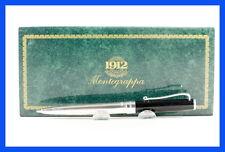 Montegrappa 925 STERLING Silver & Black China Lacquer 1912 pocket size pencil
