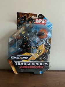 Marvel Transformers Crossovers Vehicle To Hero GHOST RIDER MOTORCYCLE Very Rare!