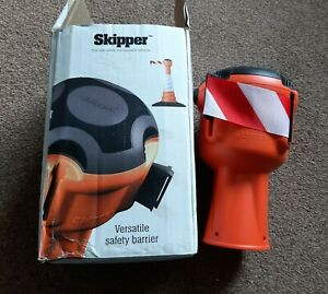 Skipper 9 metre retractable saftey barrier tape cone red white saftey management