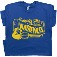 Nashville T Shirt Vintage Country Music Opry Banjo Bluegrass Tennessee Grand Ole
