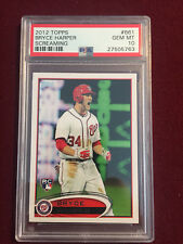 Bryce Harper 2012 Topps Short Print Screaming Rookie Card RC PSA 10 Gem Mt