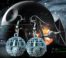 Silvertone Star Wars Deathstar Charm Dangle Earring W/Gift Box Superhero