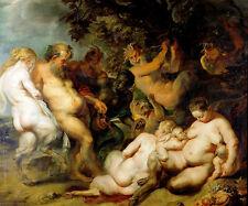 Bacchanalia by Peter Paul Rubens 60cm x 50cm Art Print