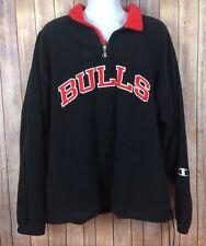 Champion Chicago Bulls Fleece Pullover Jacket XL Extra Large Sewn