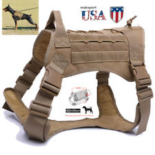 USA Police K9 Tactical Training Dog Harness Military Adjustable  Pet Nylon Vest