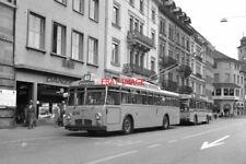 PHOTO  SWITZERLAND TROLLEYBUS 1986 SCHAFFHAUSEN BHF TROLLEYBUS 206 ON ROUTE 1