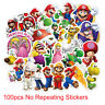 100 Super Mario Skateboard Stickers bomb Vinyl Laptop Luggage Decals Sticker Lot