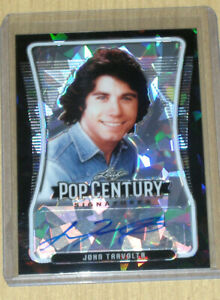 2020 Leaf Pop Century base autograph auto trading card BLACK John Travolta 3/5