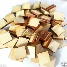 50 Wooden Squares 1 2 X1 8
