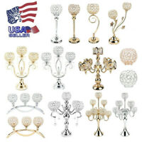 Crystal Candle Holders Candlesticks for Dining Room Wedding Table Modern Candle