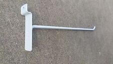 "8"" Slatwall Slat Long Hook Peg Hook Display Lot Of 100 Heavy Duty White Used"