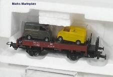 H0 Niederbordwagen DB m. 2 LKW's Tillig 78835 NEU OVP