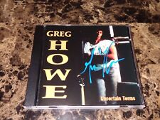 Greg Howe Rare Hand Signed Uncertain Terms CD Autographed by Guitar Legend + COA
