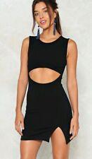 Nasty gal cut out black bodycon dress UK 12