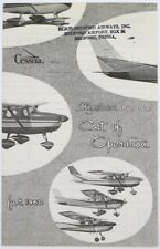 Cessna Aircraft 180 182 Skylane 1960 Guide to Cost of Operation Dealer Brochure