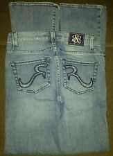 Rock and Republic Kasandra Women's Jeans Size 2 Low Rise Straight Leg Embellish