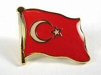 Türkei Flaggen Pin Anstecker,1,5 cm,Turkey,Neu mit Druckverschluss