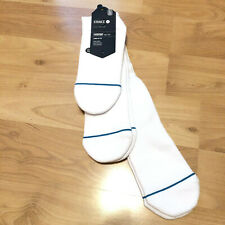 Stance Icon 3 pack Super Invisible Quarter Crew Sock White Large 9-11 Anthem