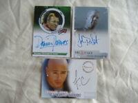Lot of 3 Autograph cards Xfiles Veronica Mars Blakes 7 Capra Thomas Desantis