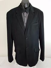 Oakmans Mens Black Jacket Vintage Blazer Long 42 XL 107 Cm