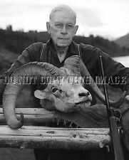 ANTIQUE SHEEP HUNTING REPRODUCTION 8X10 PHOTO FAMOUS WRITER JACK O'CONNOR