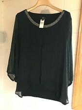 AGB WOMAN BLOUSE W/SILVER BEADING
