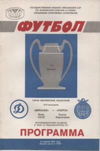 Dynamo Kiev v Porto 1987 1986/87 European Cup Semi-Final 2nd leg