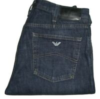 Mens AJ Armani J21 Regular Fit Dark Blue Denim Jeans W32 L35 Straight Leg