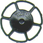 Kadee 2042 HO-Scale Miner Brake Wheels, Black (8) Detail Part for Rolling Stock