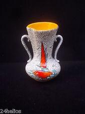 Vase vintage signé TEY céramique émaillée France an.50/60 Bateau /French Antique