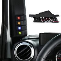 Links A-Säule Schalter 4 LED Schalttafel Lichtschalter Für Auto Lichtleiste