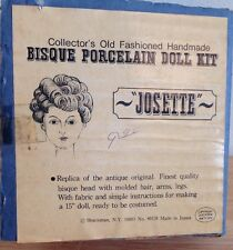 Vintage 1970's Shackman Genuine Bisque Doll Kit Josette