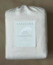 Casaluna 100% Linen Sheet Set Queen (Snowfall White) NEW/SEALED!!!