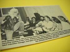 IRON MAIDEN Eddie Screaming Banshee 1981 music biz promo trade image with text